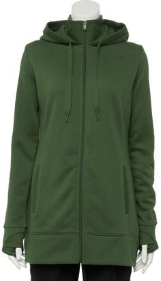 Tek Gear Women's Hooded Mockneck Fleece Jacket