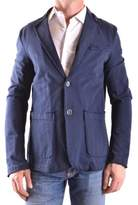 Fred Mello Men's Blue Cotton Blazer.