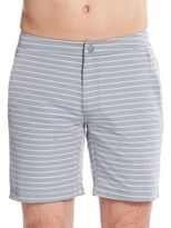 Onia Calder Striped Swim Trunks