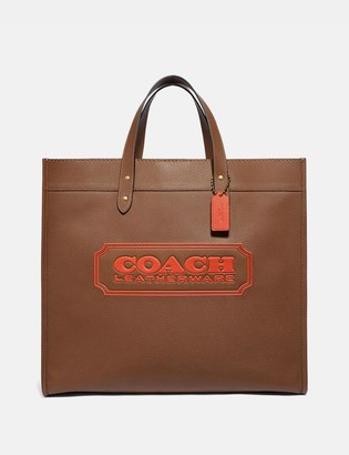 Coach Field Tote 40 With Badge