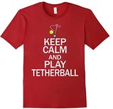 Men's Keep Calm and Play Tetherball, Tether Ball Game Set Fun Tee 2XL