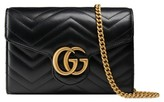 Gucci Women's Gg Marmont Matelasse Leather Wallet On A Chain - Black