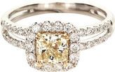 FINE JEWELRY LIMITED QUANTITIES 1 CT. T.W. White and Color-Enhanced Yellow Diamond Engagement Ring