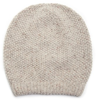 Sole Society Women's Slouchy Wool Beanie Hat Natural Multi One Size From
