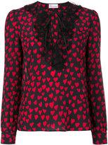 RED Valentino heart print blouse - women - Silk/Polyamide - 40