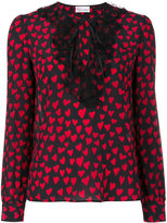 RED Valentino heart print blouse