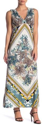 London Times V-Neck Patterned Jersey Maxi Dress (Petite)
