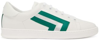 Valextra Super 3 Striped Leather Trainers - Green White
