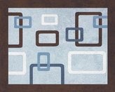 JoJo Designs Blue and Brown Geo Accent Floor Rug by Sweet
