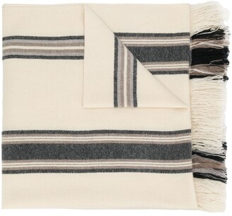 Isabel Marant Striped Cashmere Scarf