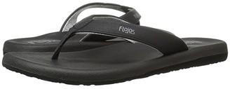Flojos Jersey (Black) Women's Toe Open Shoes