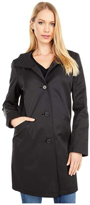 Lauren Ralph Lauren Balmacaan Jacket (Black) Women's Coat