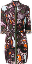 Versace Baroccoflage print shirt dress