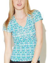 Wet Seal Aztec Reese V-Neck Tee