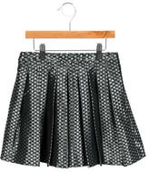 Jacadi Girls' Pleated Jacquard Skirt