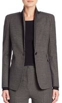 Akris Punto Micro Houndstooth One Button Jacket