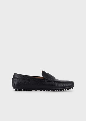 Emporio Armani Full-Grain Leather Loafers