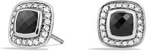 David Yurman Petite Albion Earrings with Black Onyx and Diamonds