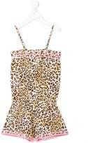 Elizabeth Hurley Beach Kids leopard print playsuit