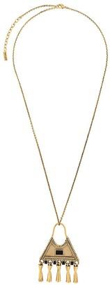 Saint Laurent Triangle Charm-Pendant Necklace