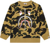 A Bathing Ape Metallic zip print cotton shark sweatshirt 4-8 years