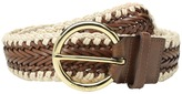 MICHAEL Michael Kors 50mm Braided Panel Belt with Macrame Edge Women's Belts