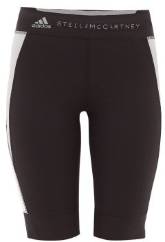 adidas by Stella McCartney Technical Jersey Cycling Shorts - Womens - Black Multi
