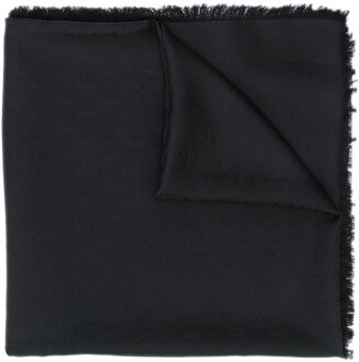 Saint Laurent frayed scarf