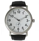 Ily Couture Classic Strap Watch - Black