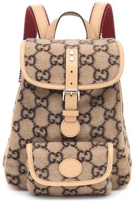 Gucci Kids GG wool jacquard backpack