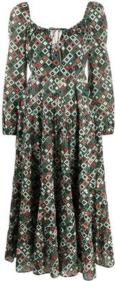 Rixo Geometric Print Dress