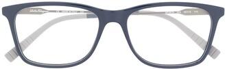 Salvatore Ferragamo Two-Tone Clear Lens Glasses