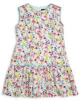 Oscar de la Renta Little Girl's Botanical Floral Dress