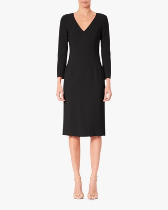 Carolina Herrera V Neck Sheath Dress