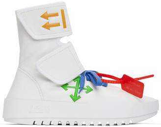 Off-White White Moto Wrap Sneakers