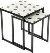 Vienna Woods Outdoor Coffee & Side Tables Outdoor Side Table, Honeycomb (Set of 2)