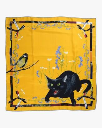 Emilia Mala Wild Cat Silk Scarf