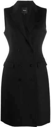 Theory Double-Breasted Sleeveless Coat