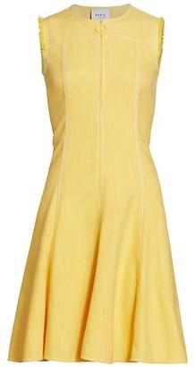 Akris Punto Sleeveless Washed Denim Fit-&-Flare Dress