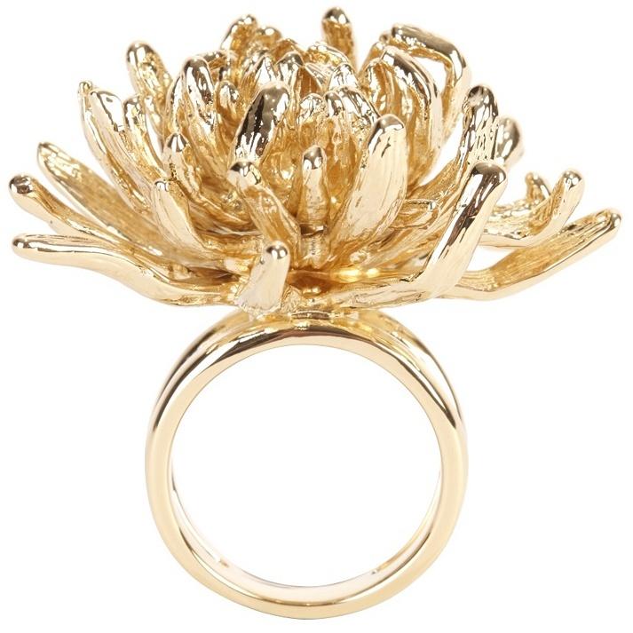 Alexander McQueen Gold Chrysanthemum Ring