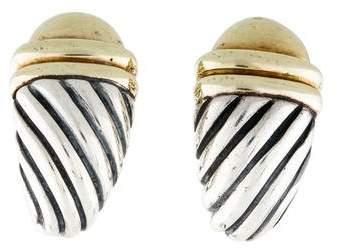 David Yurman Two-Tone Shrimp Earrings
