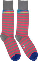 Paul Smith Pink and Grey Two Stripe Socks