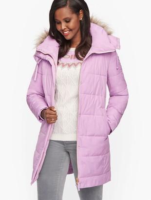 Talbots Faux Fur Trim Down Alternative Puffer Jacket