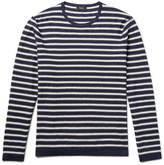 Theory Lebor Striped Stretch-Knit Sweater