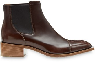 Fendi square toe Chelsea boots