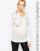 Mama Licious Mama.licious Mamalicious Long Sleeve Jersey Top