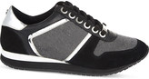 Carvela Lennie leather-blend trainers