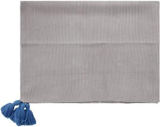 Little Bear Grey Blanket For Babykid With Tassels