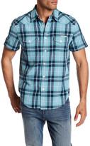 Lucky Brand Western Plaid Short Sleeve Regular Fit Shirt