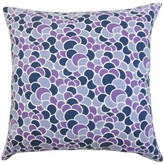 Lily Geometric Throw Pillow Cover The Pillow Collection Color: Aquamarine